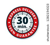 30 minutes express delivery... | Shutterstock .eps vector #1282154323