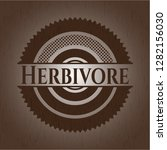 herbivore wood signboards | Shutterstock .eps vector #1282156030
