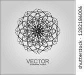 black ornament  mandala  circle ... | Shutterstock .eps vector #1282186006