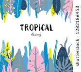 vector frame with wild tropical ... | Shutterstock .eps vector #1282186453