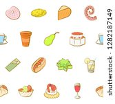 various images set. background... | Shutterstock .eps vector #1282187149