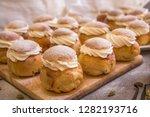 traditional winter sweet  semla ... | Shutterstock . vector #1282193716