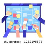 scrum board concept with human... | Shutterstock . vector #1282195576