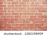 old red brick wall background... | Shutterstock . vector #1282198909