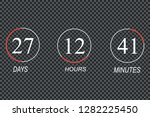countdown timer with white...   Shutterstock .eps vector #1282225450