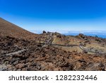 lava deposits on top and valley ... | Shutterstock . vector #1282232446