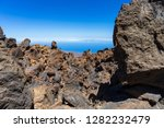 lava deposits on top and valley ... | Shutterstock . vector #1282232479