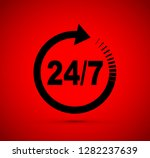 twenty four seven arrow icon | Shutterstock .eps vector #1282237639