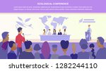 flat illustration guy asks... | Shutterstock .eps vector #1282244110