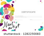 certificate for the nail master.... | Shutterstock .eps vector #1282250083