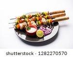 chicken hariyali kakab or malai ... | Shutterstock . vector #1282270570
