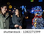 night portrait of a happy... | Shutterstock . vector #1282271599