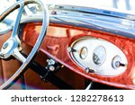 vintage collector car dashboard ... | Shutterstock . vector #1282278613