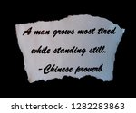 Chinese Proverb With Black...