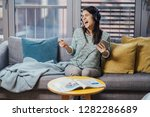 singing song with emotion... | Shutterstock . vector #1282286689