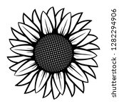 sunflower illustration in black ... | Shutterstock .eps vector #1282294906