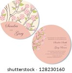beautiful round  double sided... | Shutterstock .eps vector #128230160