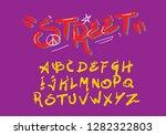 graffiti alphabet illustration... | Shutterstock .eps vector #1282322803
