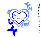 happy father's day  greeting...   Shutterstock .eps vector #128232764