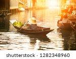 thai fruit seller sailing... | Shutterstock . vector #1282348960