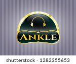 gold shiny badge with... | Shutterstock .eps vector #1282355653