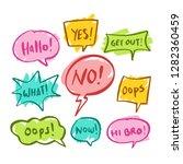 colorful balloon speech bubbles ... | Shutterstock .eps vector #1282360459