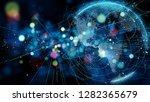 global communication network... | Shutterstock . vector #1282365679