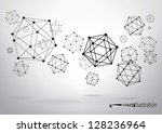 composition of wireframe...   Shutterstock .eps vector #128236964