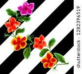 watercolor bouquet of flower...   Shutterstock . vector #1282396519