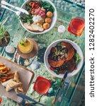 falafel salad with vegetables   Shutterstock . vector #1282402270