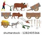 Stock Vector Set Farm...