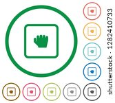 grab object flat color icons in ... | Shutterstock .eps vector #1282410733