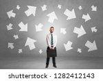handsome businessman standing... | Shutterstock . vector #1282412143