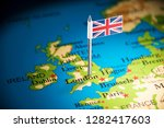 united kingdom marked with a... | Shutterstock . vector #1282417603