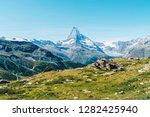 beautiful mountain landscape... | Shutterstock . vector #1282425940