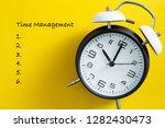 time management concept. alarm...   Shutterstock . vector #1282430473