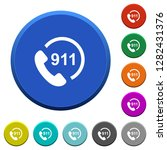 emergency call 911 round color... | Shutterstock .eps vector #1282431376