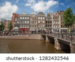 amsterdam   july 10  canals of... | Shutterstock . vector #1282432546