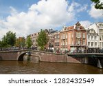 amsterdam   july 10  canals of... | Shutterstock . vector #1282432549