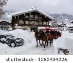 carriage in snowy reit im winkl ...   Shutterstock . vector #1282434226