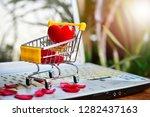 heart model on trolley set on...   Shutterstock . vector #1282437163