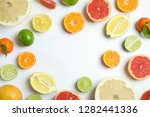 different citrus fruits on... | Shutterstock . vector #1282441336