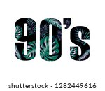 90 slogan with tree leaves... | Shutterstock .eps vector #1282449616