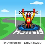 race passing the finish line... | Shutterstock .eps vector #1282456210