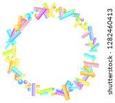 sprinkles grainy. sweet... | Shutterstock .eps vector #1282460413