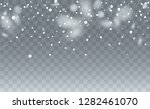 realistic snowflakes background.... | Shutterstock .eps vector #1282461070