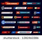 tv news bar. television... | Shutterstock .eps vector #1282463386