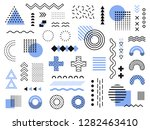 memphis design elements. retro... | Shutterstock .eps vector #1282463410