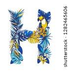 vector illustration tropical... | Shutterstock .eps vector #1282465606