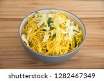 top view close up bowl of... | Shutterstock . vector #1282467349